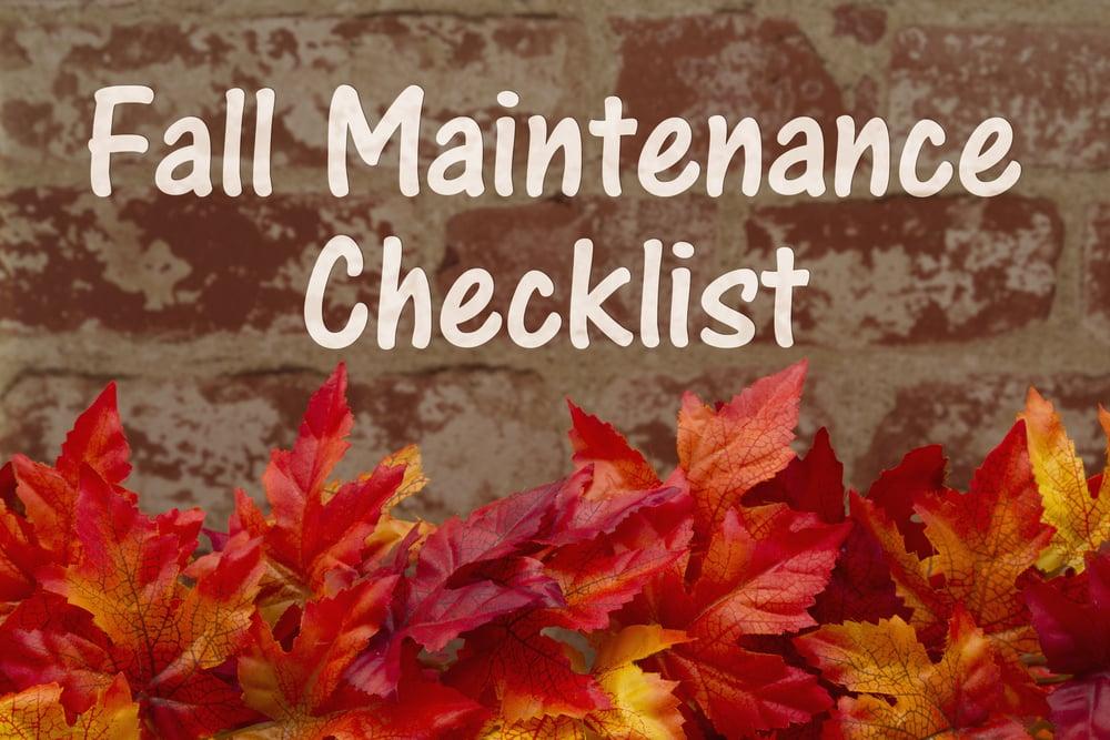 fall maintenance checklist