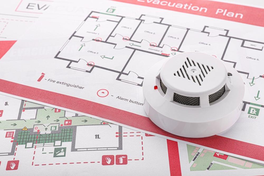 smoke detector and evacuation plan